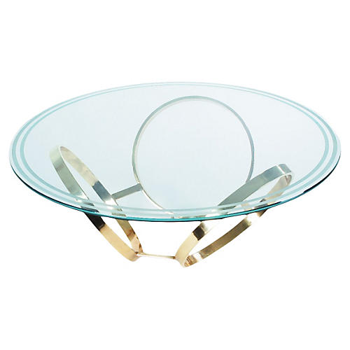 Brass Ring Coffee Table