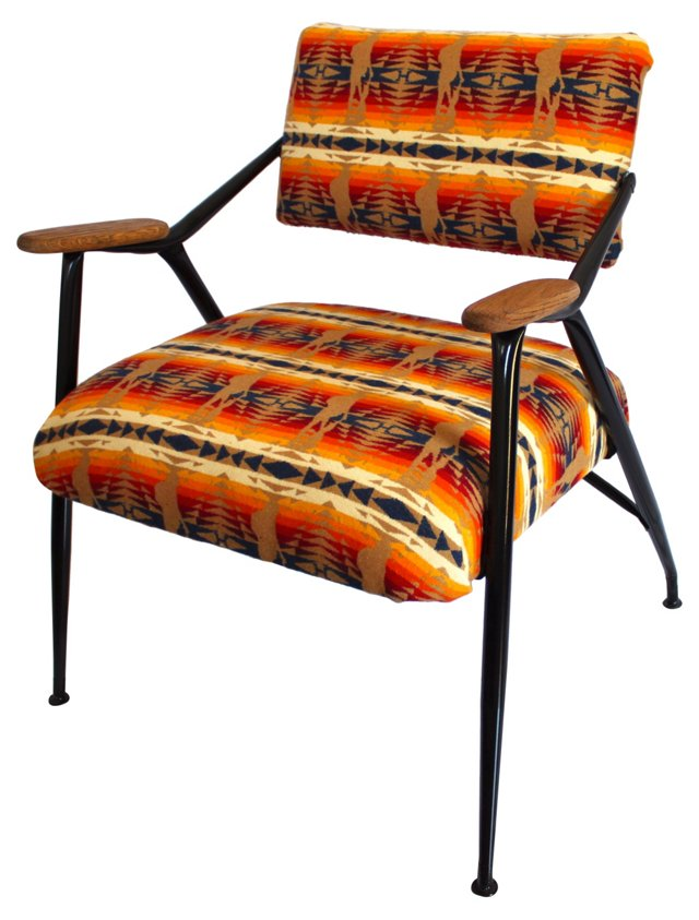 Midcentury Reclining Pendleton Chair