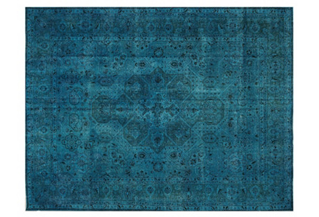 Turkish Overdyed Carpet, 10' x 12'8