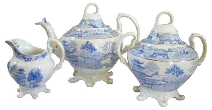 English Tea Set, C. 1830, 3 Pcs