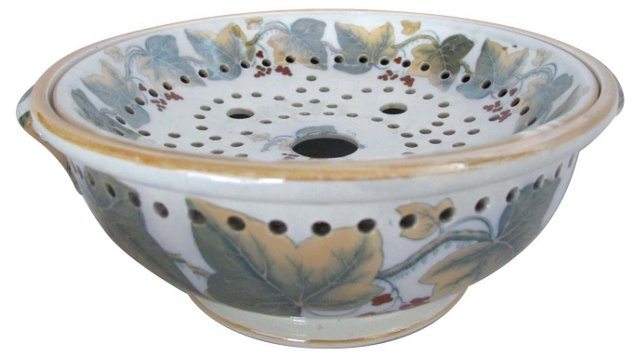 19th-C. Staffordshire Berry Strainer