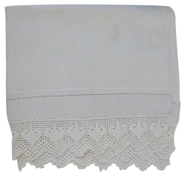 Antique Handmade Lace Tea Towel