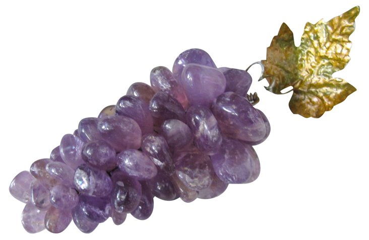 Polished Stone Amethyst  Grape Cluster