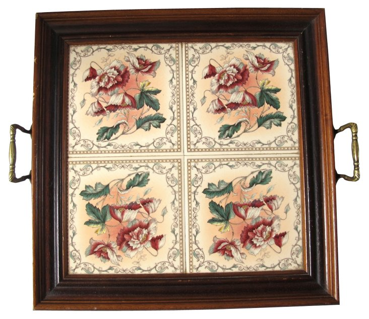 Tile & Wood Serving Tray