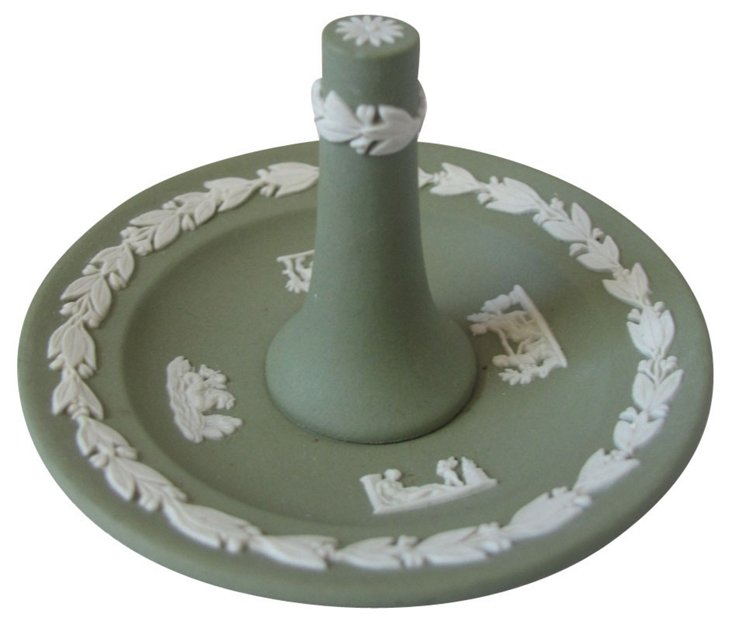 Green Wedgwood Jasperware Ring Holder