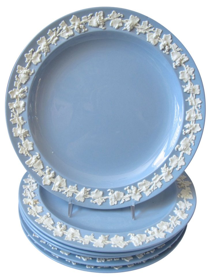Wedgwood Queensware Bread Plates, S/6