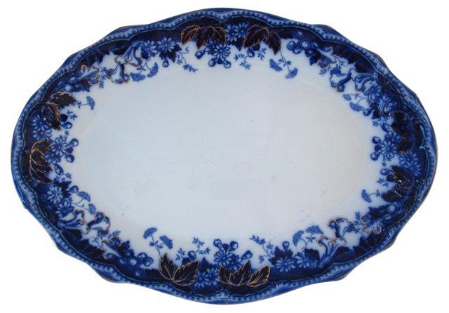 Antique  Flow  Blue    Platter