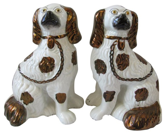 Staffordshire Dogs, C. 1870, Pair