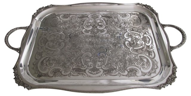 Heavy Viner's Silverplate  Serving  Tray