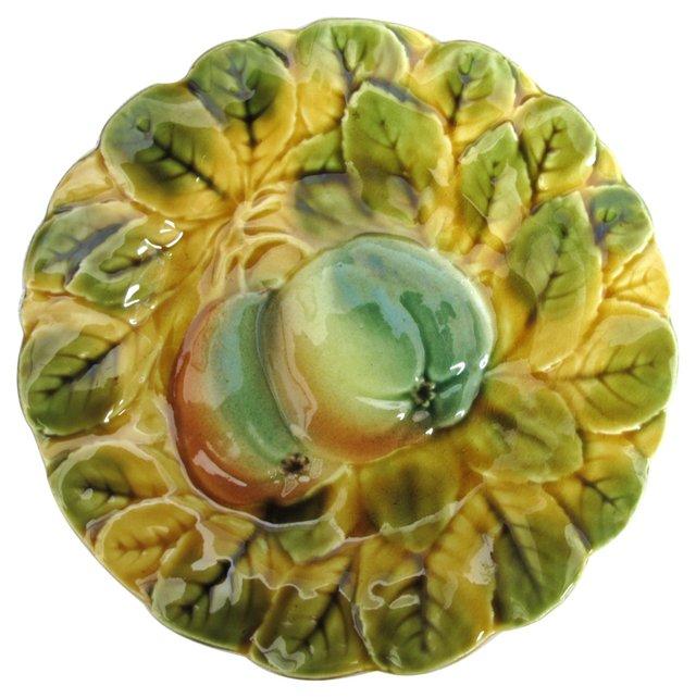 Majolica Fruit     Plate
