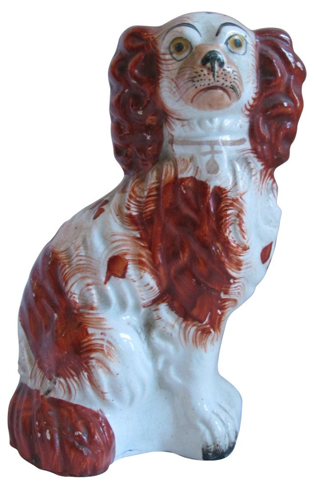 Red Antique Staffordshire King Charles