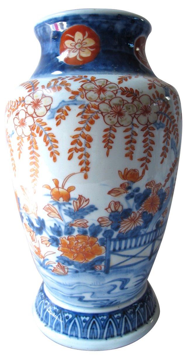 Antique Japanese Porcelain Imari Vase