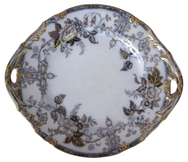 English Mulberry Serving Tray, C. 1840
