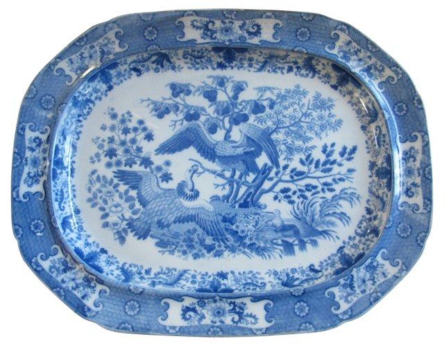 Transferware Vulture Platter, C. 1820