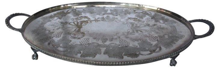 Viner's Silverplate Footed Tray
