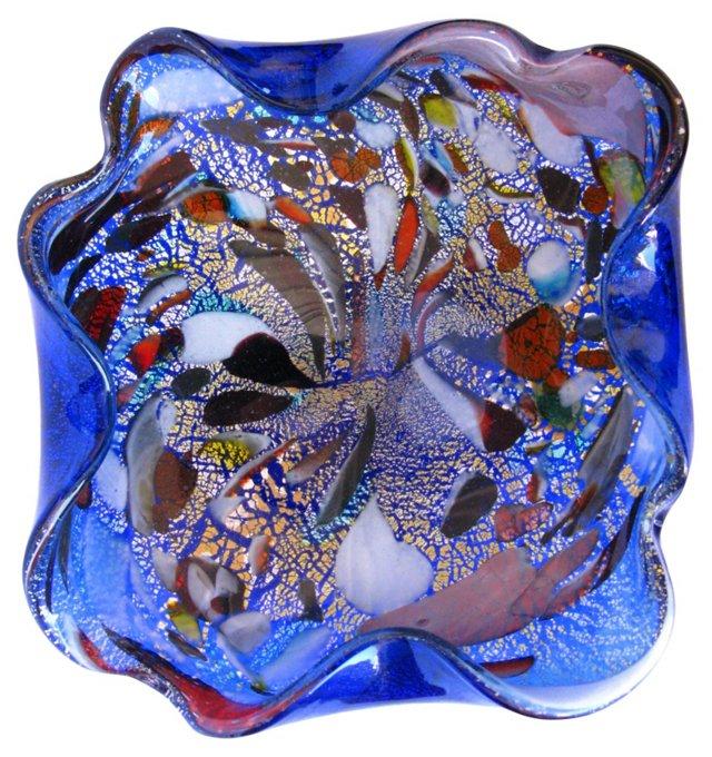 Murano Cobalt Confetti Bowl