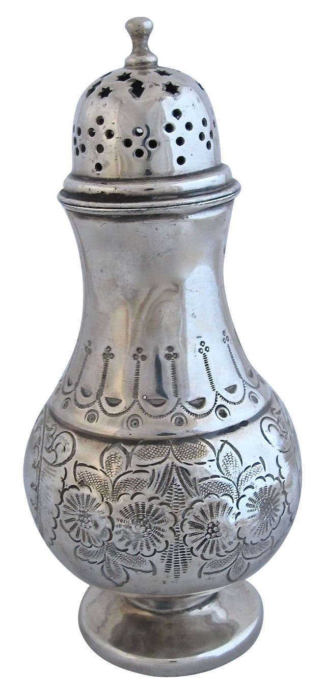 Antique Hand-Tooled Silverplate Shaker