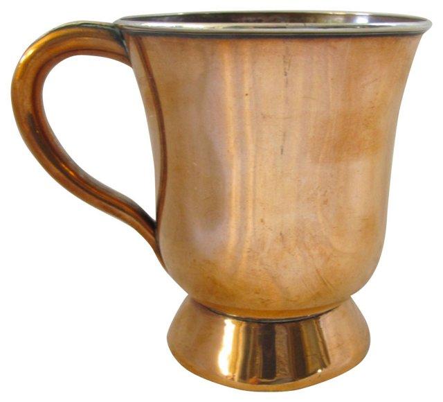 Antique Copper Half Pint Tavern Mug