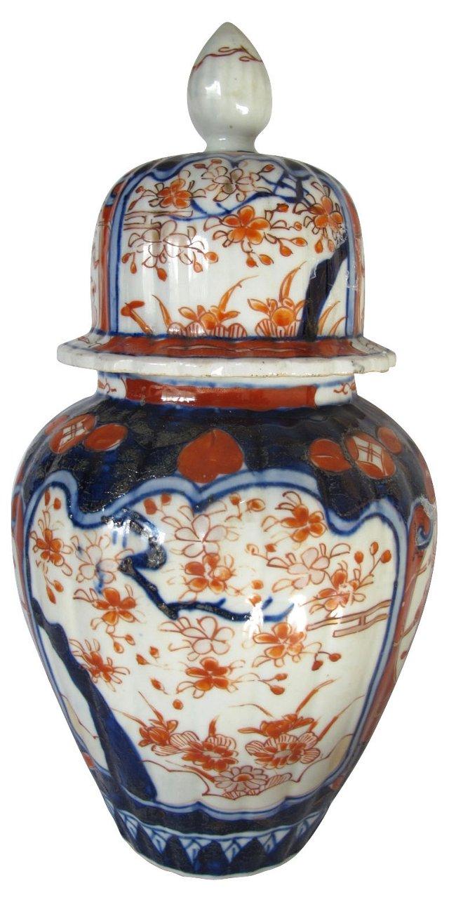 Antique  Japanese Porcelain Ginger Jar