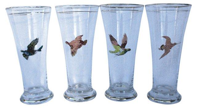 Hunting Birds Glasses, S/4