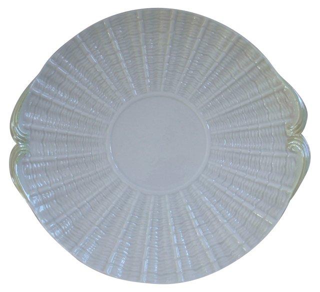 Irish Belleek Shell Serving Plate