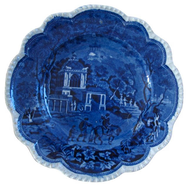 English Transferware Plate, C. 1830
