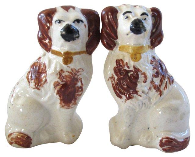 Staffordshire Miniature Dogs, Pair