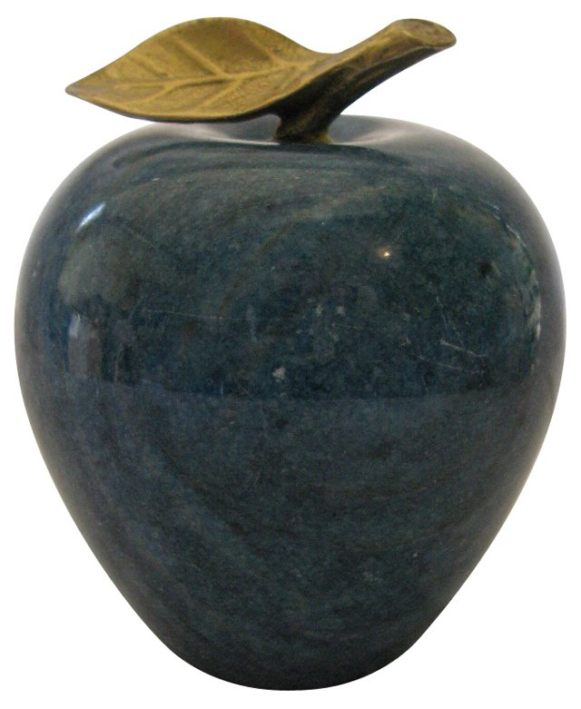 Polished  Marble Apple Paperweight