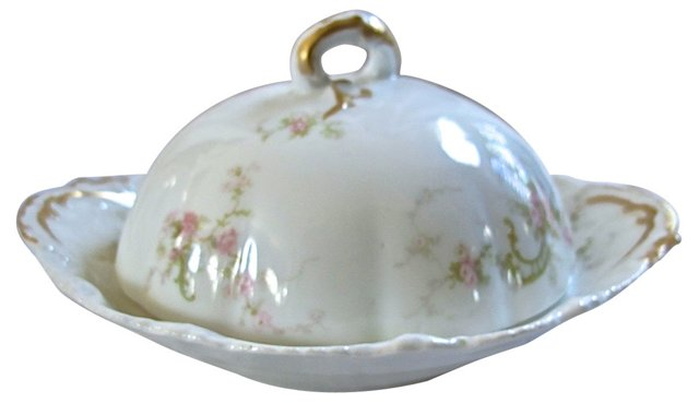Haviland Limoges Porcelain Butter Dish