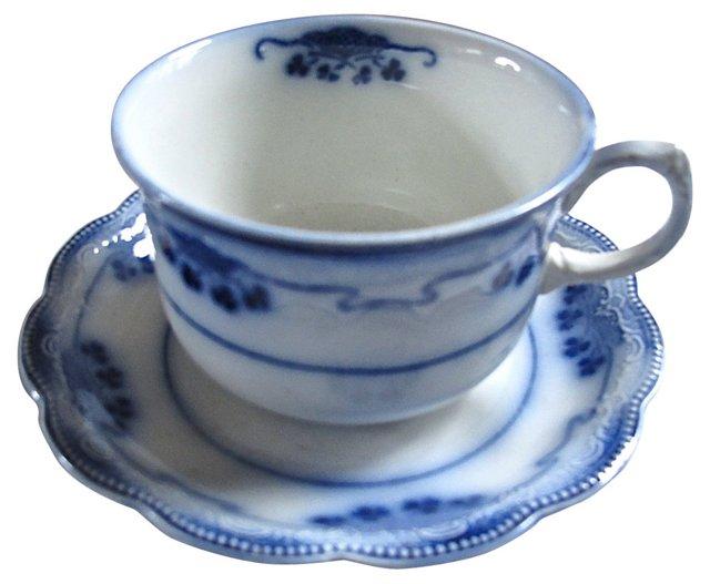 Shamrock Flow Blue Cup & Saucer