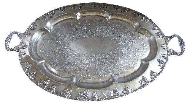 English   Silverplate    Tray