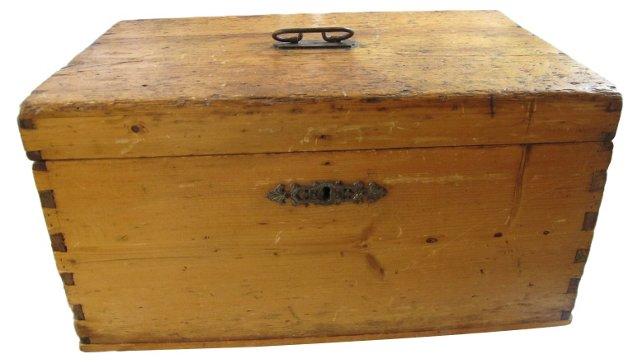 Large Antique Pine Stage Coach Box