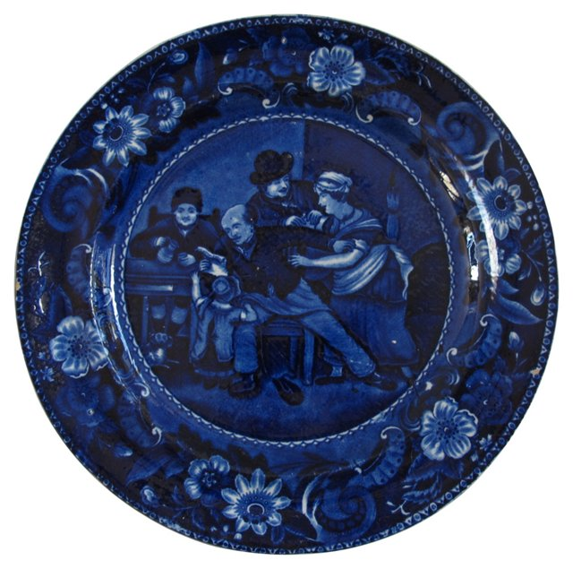 1820's Valentine Wall Plate