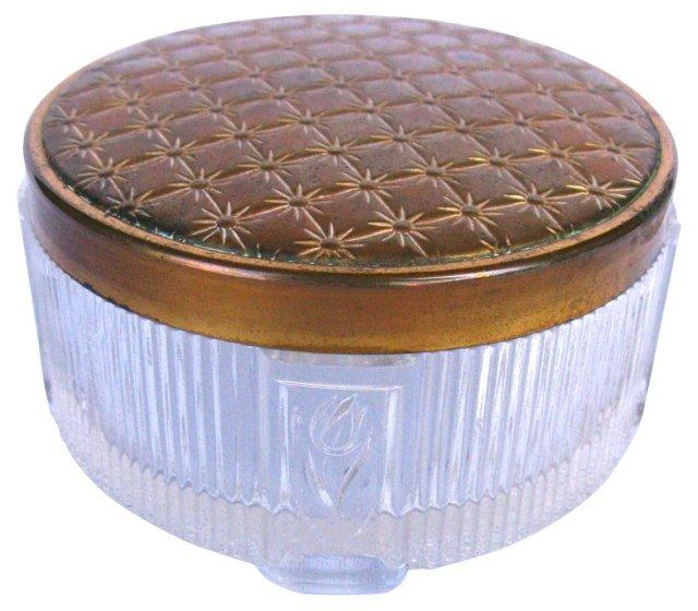 Brass Art Deco Vanity Box