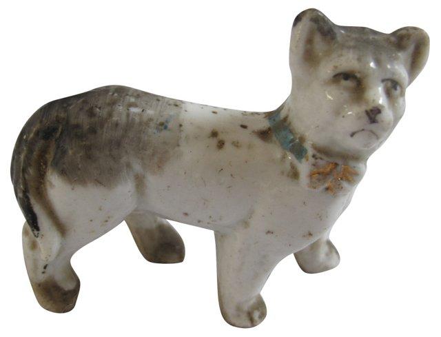 Antique Miniature Porcelain    Cat