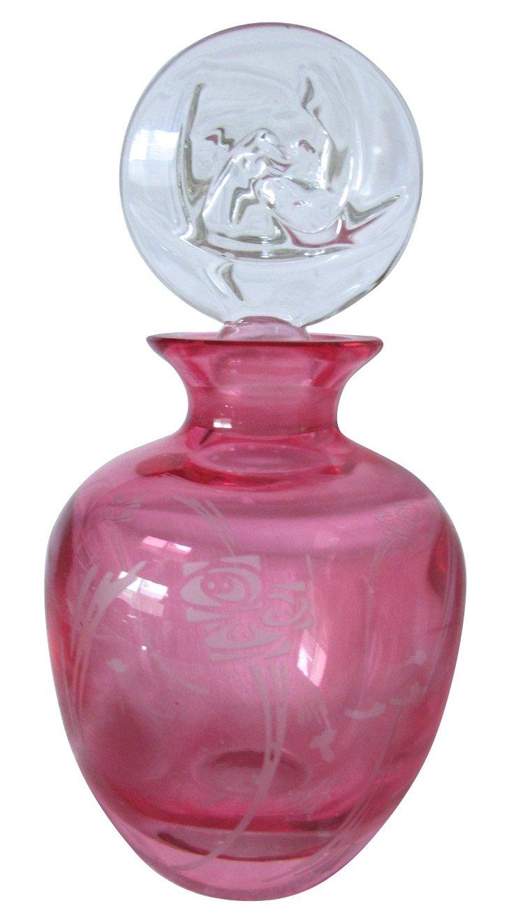 Rose Crystal Perfume Bottle