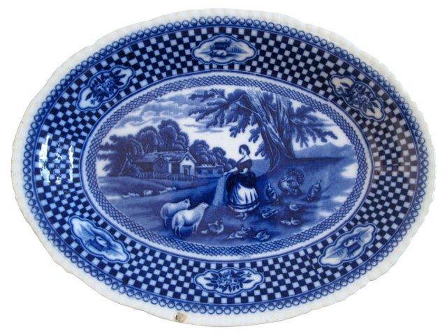 Antique Adams Flow Blue Platter