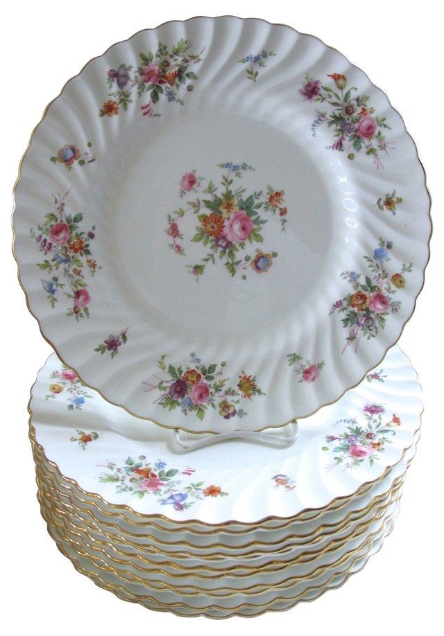 Minton's Porcelain Dinner Plates, S/12