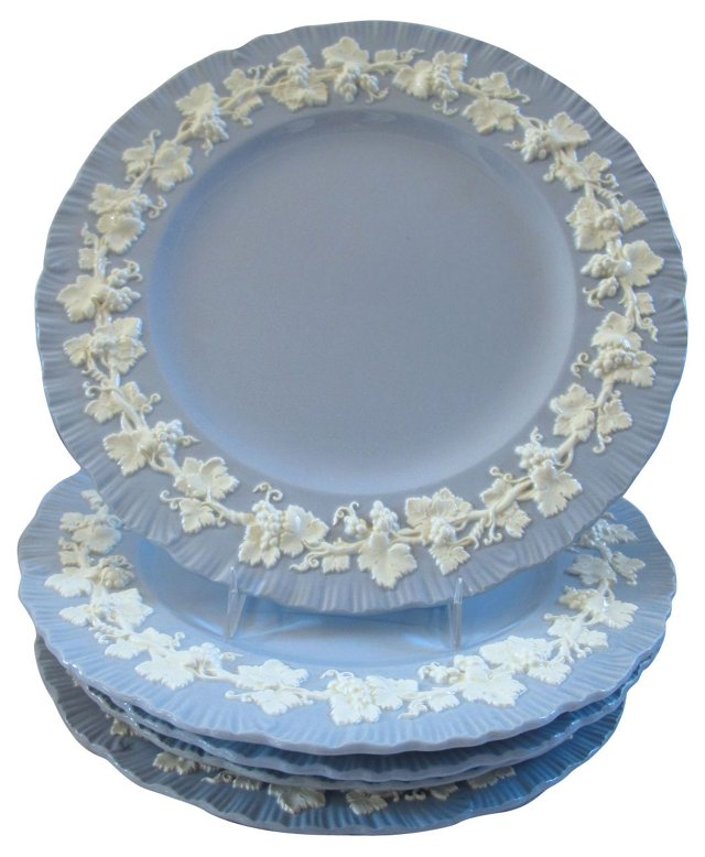 Wedgwood Queensware Plates, S/6