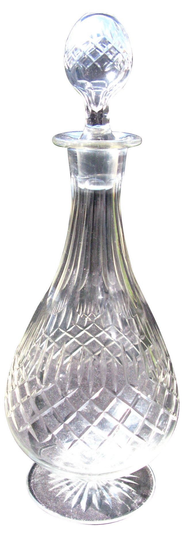 Antique English Cut Crystal Decanter
