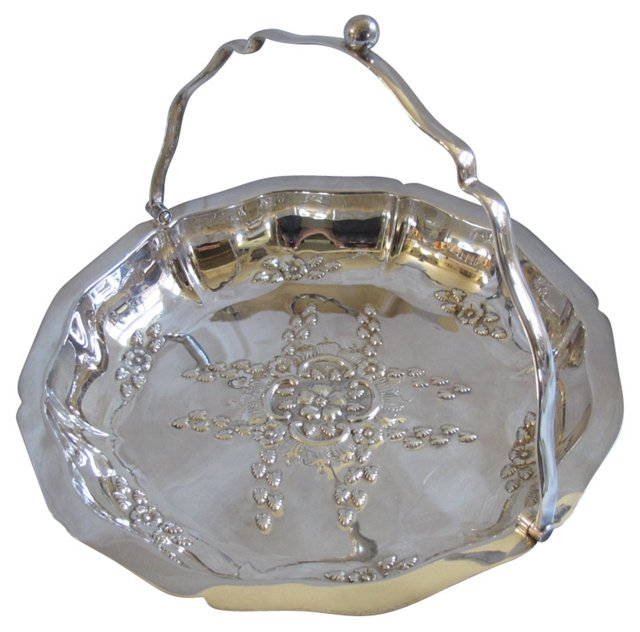 English  Silverplate  Serving Basket