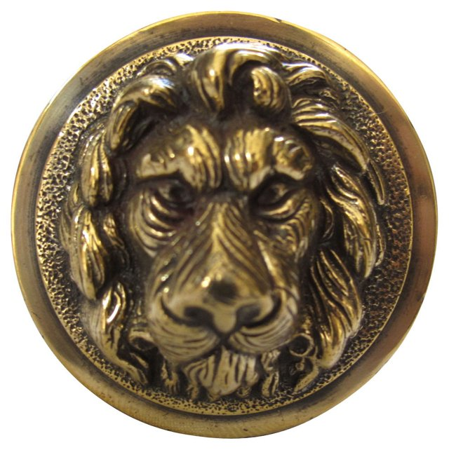 Antique Brass Lion Doorknob