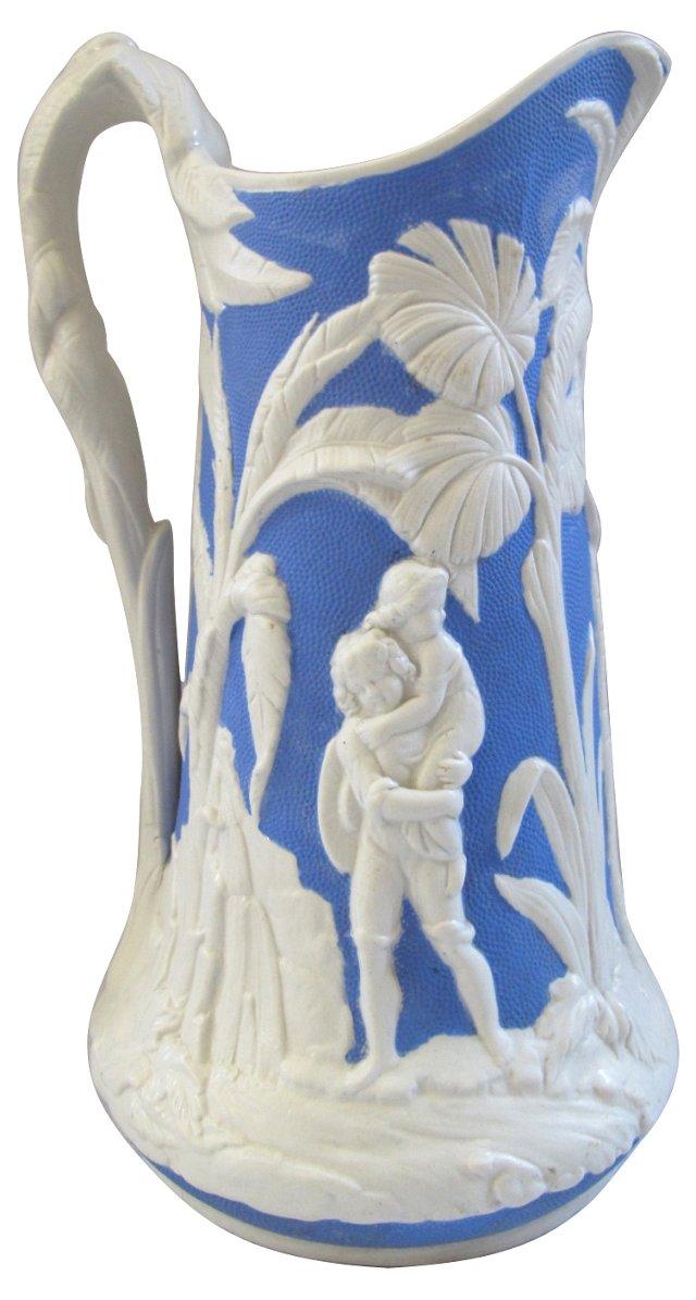 Antique English Salt Glaze Jug