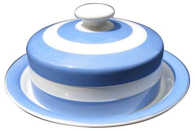 T.G. Green Cornishware Butter Dish