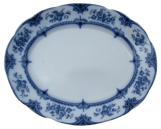 Flow Blue Floral Platter