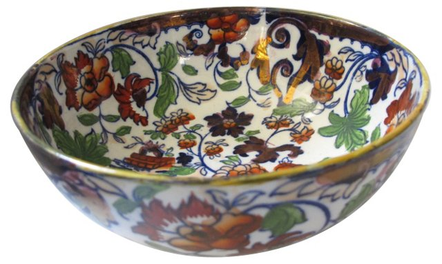 19th-C. Minton's Ironstone Serving Bowl