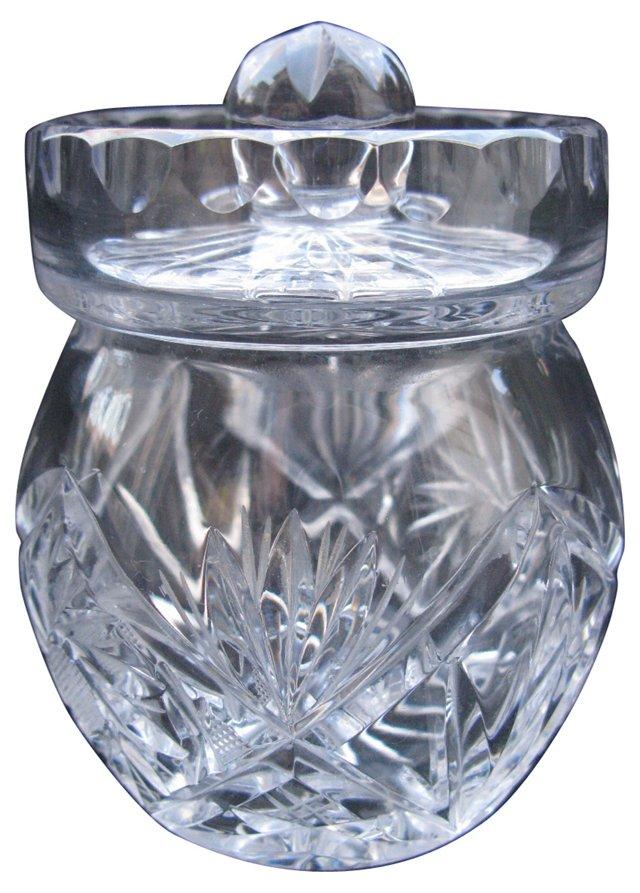 Cut Crystal Marmelade Jar
