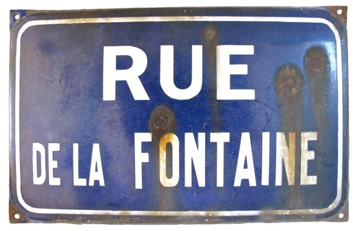 Côte d'Azur  Street  Sign