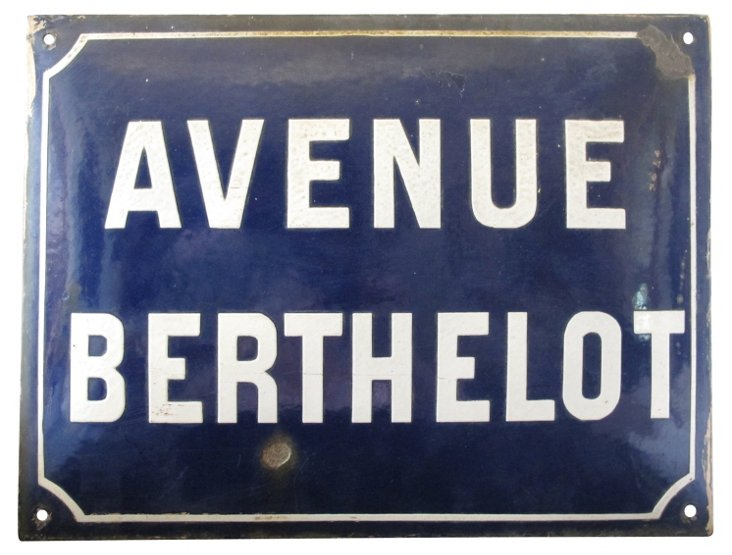 French Enamel Street Sign from Lyon