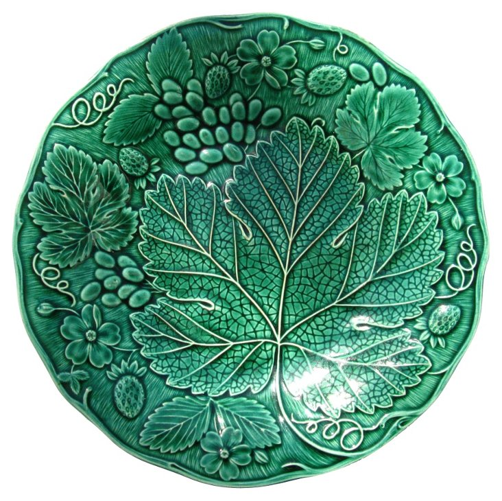 Antique Majolica Wall  Plate